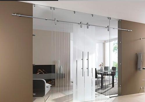 Divisi n vidrio templado puerta vidrio templado corrediza for Muebles de oficina vidrio